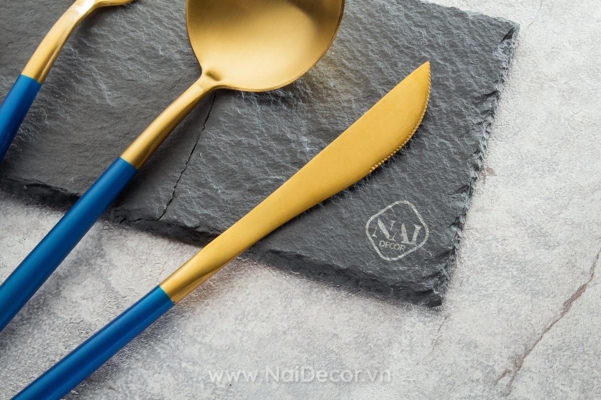 Bộ muỗng dao nĩa cao cấp chụp ảnh sản phẩm