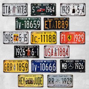 tranh thiec bien so xe vintage