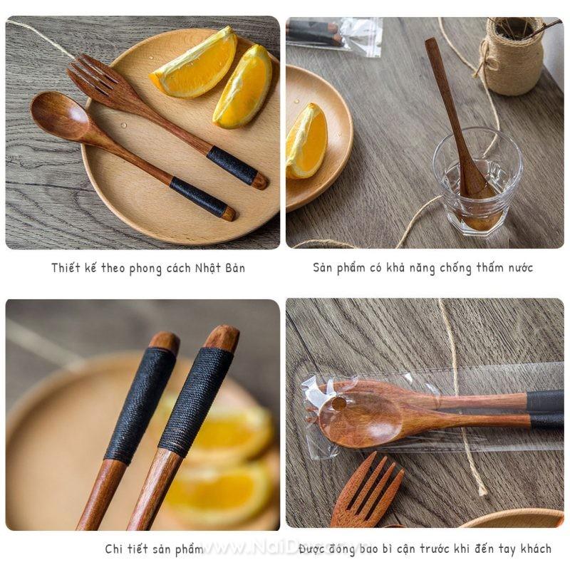 Muỗng gỗ đẹp trang trí chụp ảnh, chụp đồ ăn