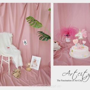 phông vải trơn chụp ảnh màu hồng