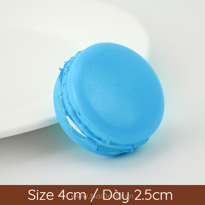 8 banh macaron mau xanh bien