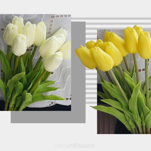 hoa tulip trang tri phu kien chup anh nhieu mau 2