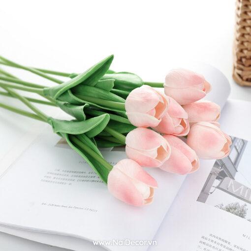 hoa tulip trang tri phu kien chup anh nhieu mau 9