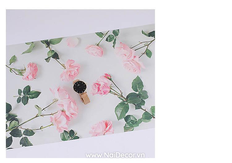 nen giay 3d in hoa tiet hoa la so 1 1