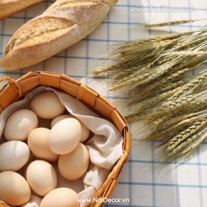 Chủ đề, concept chụp ảnh, gợi ý mua hàng, Bánh mì, BST, cam nhạt 2, Đồ ăn, Khăn lót, Khăn lót họa tiết, Lúa mì, Trắng, Vải lanh, vàng nhạt 2