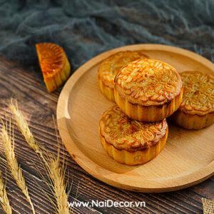 Chụp Bánh trung thu với Dĩa gỗ, lúa mì, Bánh trung thu, BST, Dĩa gỗ, Lúa mì, Nền gỗ, Vải voan, Chủ đề, concept chụp ảnh sản phẩm,