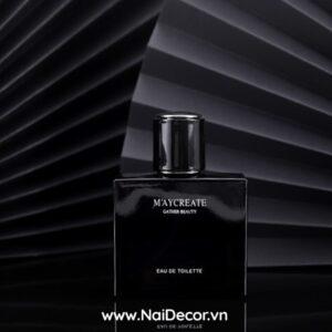 Chụp Nước hoa Nam với quạt giấy đen, Với chủ đề chụp các sản phẩm dành cho đàn ông, nên cần những tông màu đủ mạnh mẻ, như tông màu đen tuyền