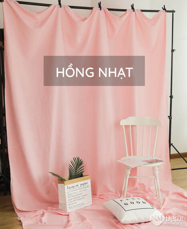 phông vải trơn chụp ảnh màu hồng nhạt