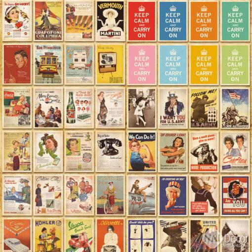 Postcard Retro Vintage A1