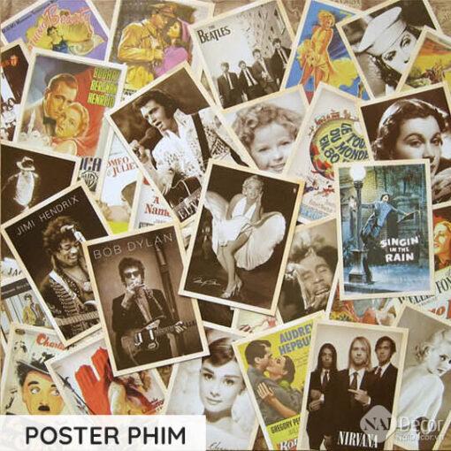 Postcard Retro Poster Phim S3
