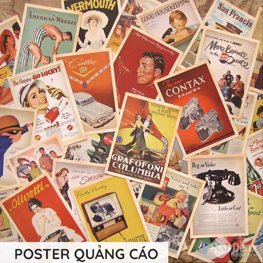 Postcard Retro Poster Quang Cao S4